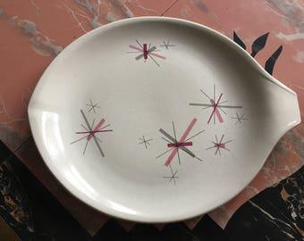 Hop Scotch Pink Salem North Star Free Form Large Gravy Pour Spout Platter