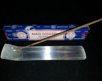 Selenite Incense Holder Burner Crystal Gemstone Cleanser Charger AMAZING