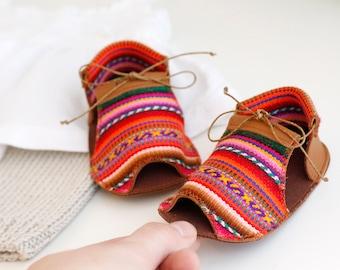 INCA sandalias de bebé, en piel natural y tela de poliéster