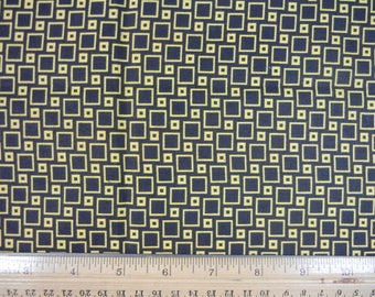 Geometric Yellow and Black - Fat Quarter