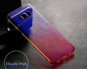 For Samsung Galaxy S9 / S9Plus Color Changing Ultra Thin Electroplated Case Clear Slim Soft Bumper Cover Ships Fast From USA
