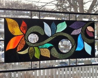 BRANCHING OUT  Stained Glass Window Panel (Signed and Dated)