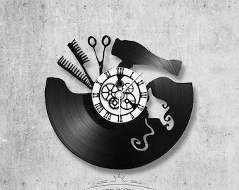 Vinyl 33 clock towers theme hair