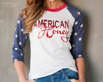 American Honey Alternative Apparel Stars Baseball tee