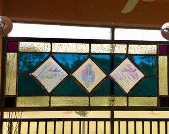 Contemporary Stained Glass with Phoenician Glass