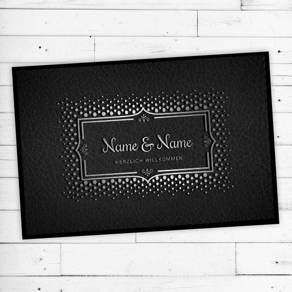 """Mat """"Silver"""" with Name & text personalized"""