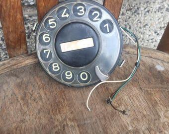 Vintage Telephone Disk, Vintage Telephone Puck, Telephone Rotary, Vintage Phone Disk, Bulgarian Phone Disk.