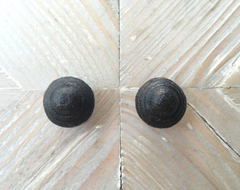 Small Black Cast Iron Drawer Pull for Farmhouse, Rustic and Industrial Home Decor and Furniture Hardware