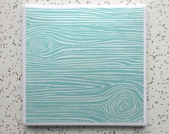 Faux Bois Tile Coaster