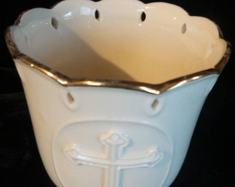 Lenox© Candle Holder with Gold Trim