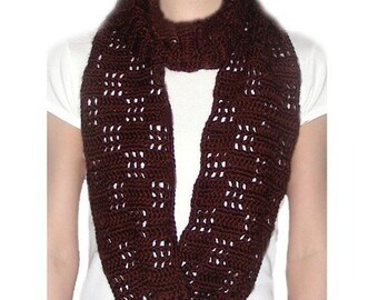Checkered Loop Scarf - PDF Crochet Pattern - Instant Download