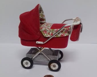 Stroller for the Dollhouse family in the scale 1zu12, Doll House, dollhouse miniatures, miniatures,.