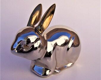 Vintage Silver Plate Bunny Rabbit Figurine
