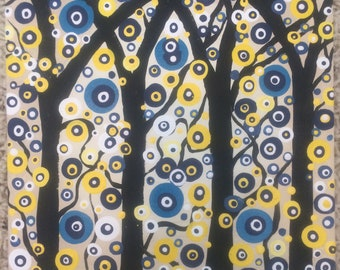The Blue and yellow Dot Forest