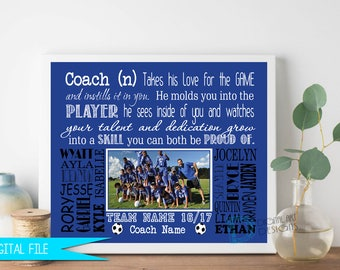 Coach Gift, Coach Thank You Gift, Hockey Gifts, Football Coach Gift, Soccer Coach Gift, Hockey Coach Gift, Ringette Coach Gift, Personalized