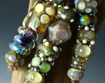 Lampwork beads?SRA lampwork/beads/Double Helix/designer set/