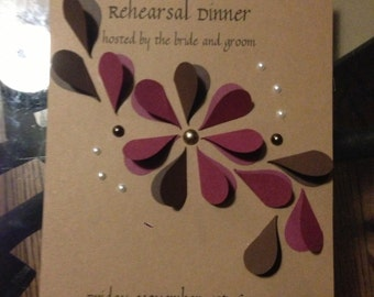 Heart Flower Invitations (15)