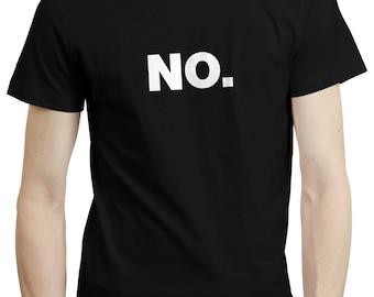 NO Office Work Helvetica Typography Grumpy Introvert T shirt Tshirt