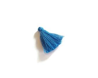 Dark blue cotton tassel