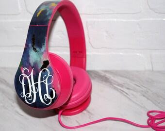 Monogrammed Foldable Headphones
