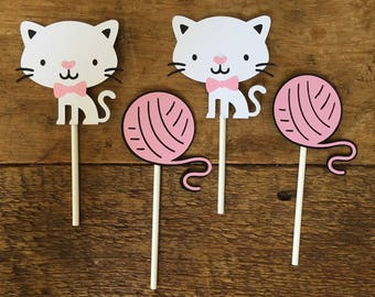 Kitty Birthday Party Cupcake Toppers/Cat/Kitten