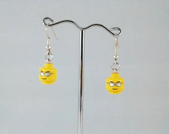Shades earrings made from Lego heads, Cool Dude earrings, Sunglasses earrings, Dreaming of summer