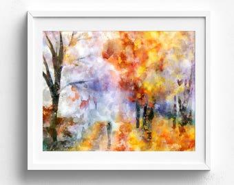 Original painting, abstract painting, original art, original watercolor, watercolor painting, landscape painting, original artwork, colorful
