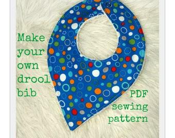 Bandana bib pattern tutorial (S125), Baby bib pattern, Drool bib pattern, Baby bandana bib, Bib sewing pattern, Bandana bib sewing pattern