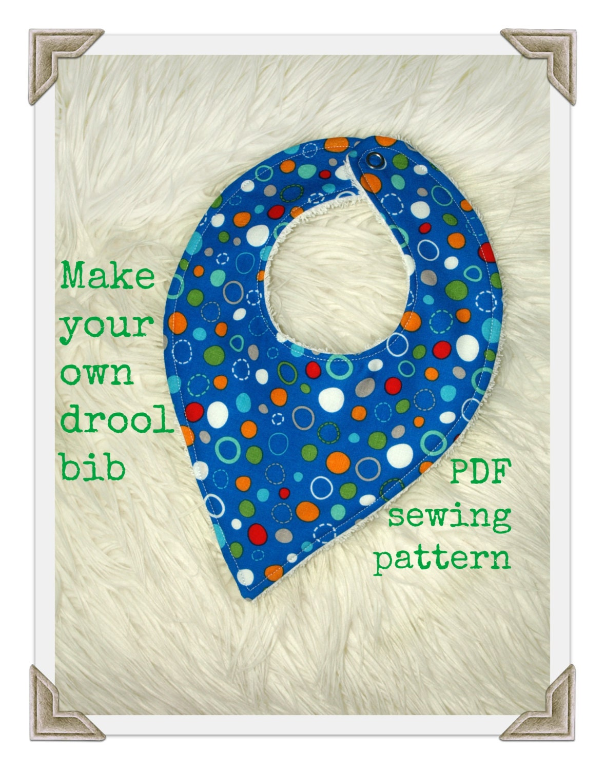 Bandana bib pattern tutorial s125 baby bib pattern drool bib this is a digital file baditri Images