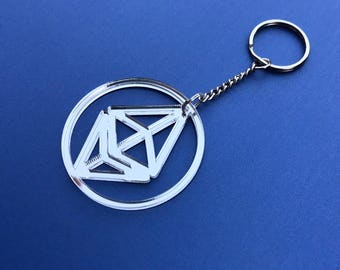 Metallic Ethereum Keychain OR Ethereum Necklace! Gold Ethereum or Silver Ethereum Available - ETH Keychain, looks great with an ETH shirt!