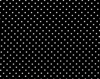 Black Pinhead Fabric from Michael Miller Fabrics - 1/2 Yard - Half Yard - Black and White - Pin Dots - CX5514-BLAC-D