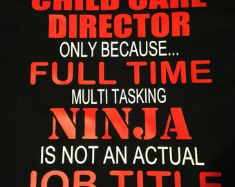 Child Care Director Shirt