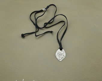Joyful Whale Sterling Silver and Leather Necklace