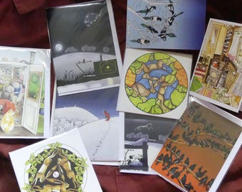 5 Greetings Cards (assorted)