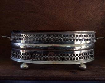 Vintage English EPNS serving presentation bowl ring circa 1940-50's / English Shop