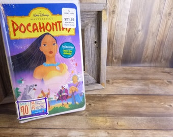 1996 Walt Disney Pocahontas Never Opened Never Played | Original Packaging Untouched Disney Masterpiece VHS Video Tape |  Original Stickers