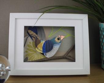 Gift for Bird Lovers - Blue Bird framed Art -