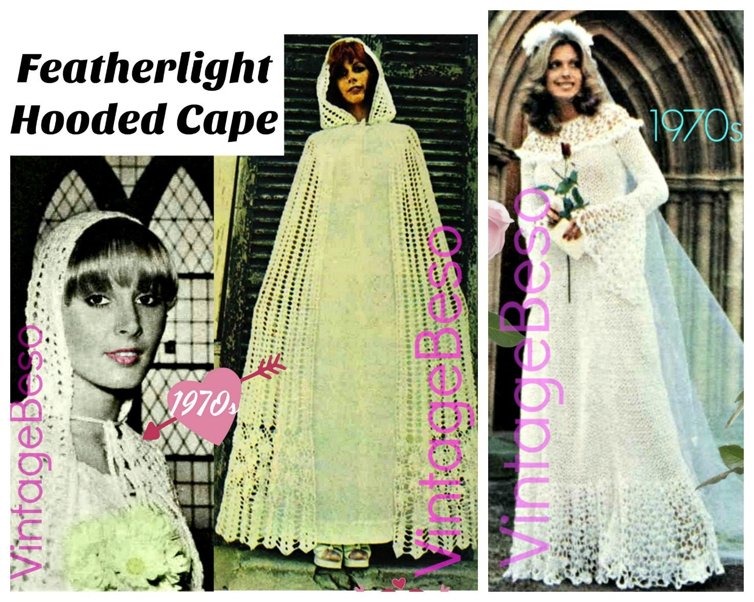 CLOAK Instant Download Pattern PDF 1970s Vintage Hooded Cloak ...