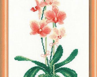 Yellow Orchid  - Cross Stitch Kit from RIOLIS Ref. no.:1161