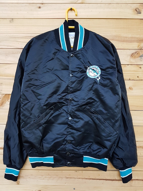 Vintage Florida Marlins DeLong Baseball Nylon Jacket Athletic Outdoor RHS99fPd
