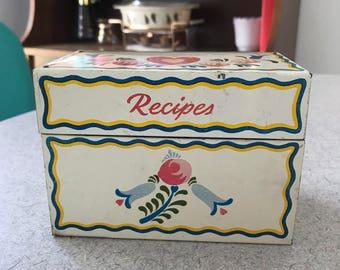 1950s Ohio Art Recipe Box