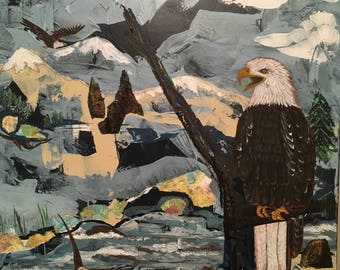 Bald Eagles 20 x 24 Mixed Media on Canvas