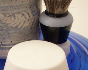 Naked Shaving Soap - Unscented Classic Shave Soap with Clay - Unisex Shave Soap for Mugs - - No Added Fragrance or Color for Sensitive Skin