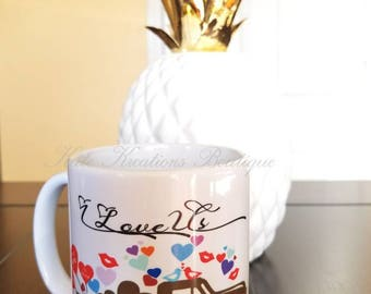 Valentines Mug/I Love Us Coffee Mug
