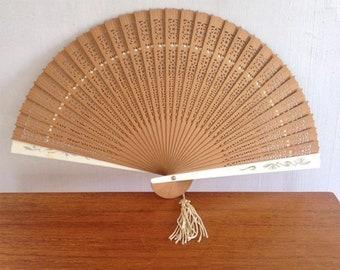 Wooden Handheld Fan