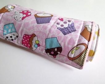 Baby burp cloths, pink burp cloths, set of 2