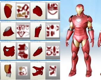 Iron Man Extremis suit Pepakura DIY cosplay