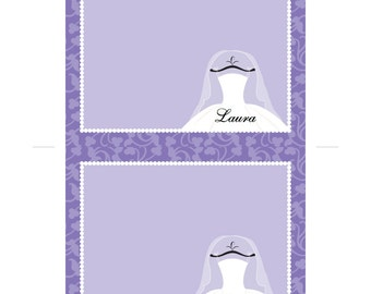 Purple Bridal Thank you Cards Template, Printable Thank you Cards for Bridal Shower, Personalized Thank you Cards, Note Cards