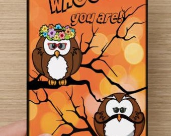 I Like Whooo You Are!~birthday, Owl-lovers, kids' greeting card, self-esteem, affirmation, encouragement, Halloween, autumn