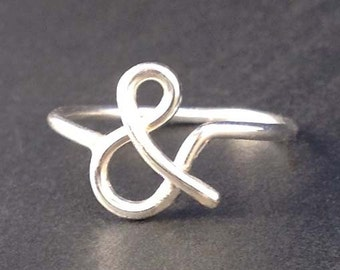 Ampersand Sterling Ring by donnaodesigns